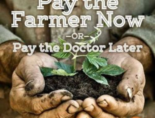 Pay the Farmer Now – or pay the Doctor Later !