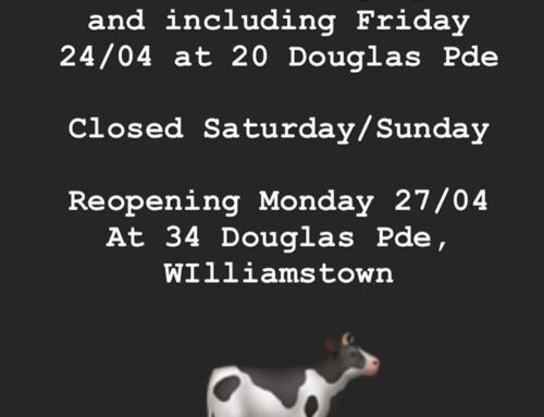 Replenish is on the moove ! 34 Douglas Parade as of 27th April